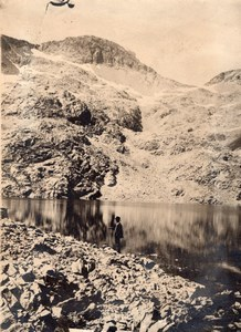 Lac Crupillouse Lake Man Alpes Alps Mountain Photo 1900