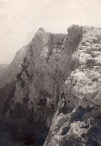 Shepherd House Cliff Pyrenees Montagne Old Photo 1900