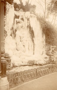 Marseille Puget Frozen Fountain Winter Ice Photo 1904