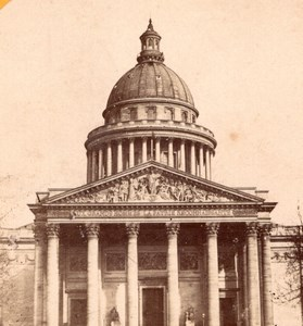 Pantheon Paris France Old Stereo Photo 1875