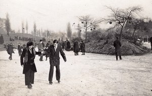 Paris Ice Skater Sport Winter Old Photo 1900