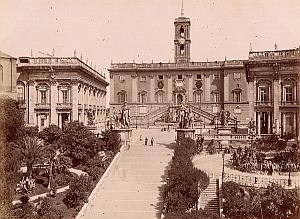Campidoglio Scale Roma Italy Old Anderson Photo 1880