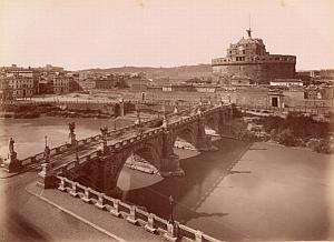Castelli San Angelo Roma Italy Old Anderson Photo 1880