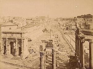 Foro Romano Panorama Roma Italy Old Alinari Photo 1880