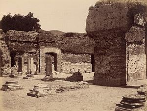 Tivoli Adriana Tempio Diana Roma Italy Old Photo 1880