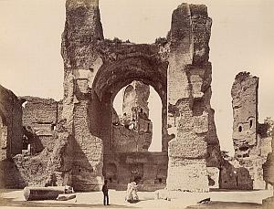 Terme di Caracalla Roma Italy Old Anderson Photo 1880