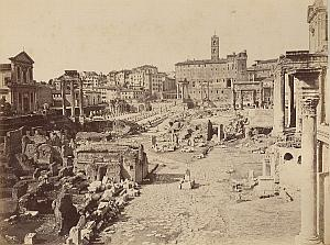 Foro Romano Campidoglio Roma Italy Old Photo 1880