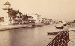 Montpellier Palavas Canal Boats Old Neurdein Photo 1880