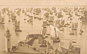 Cancale Festivity Fishers Boats France Old Photo 1880