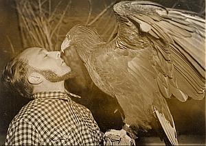 Jacques Bouillaud & His Sea Eagle Old Photo 1954