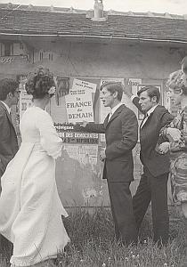 Saint Jean du Marche Marriage Political Old Photo 1960