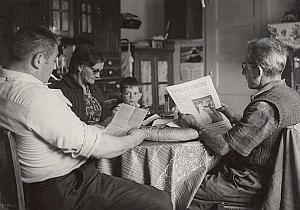Referendum Vote Family France Orne Old Photo 1968