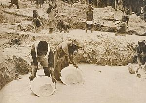 Cameroun Gold Mining River Africa Old Photo 1958