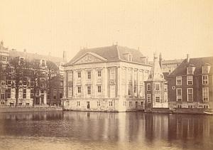 Den Haag Museum Canal Place Netherlands old Photo 1890