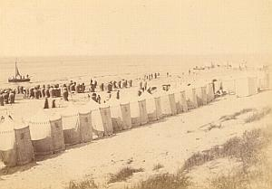 Scheveningen Beach Animated Netherlands old Photo 1890