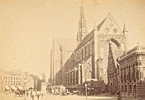 Haarlem Big Church Animated Netherlands old Photo 1890
