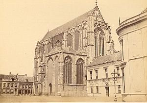Utrecht Cathedral Facade Netherlands old Photo 1890