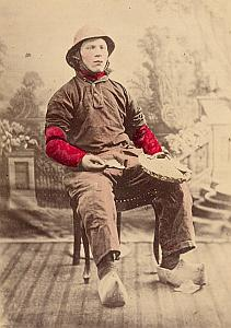 Zelande Fisherman Fashion Netherlands old Photo 1890