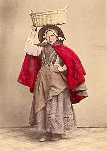 Zelande Fisherwoman Fashion Netherlands old Photo 1890