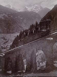 Switzerland Murrenbahn & Jungfrau Train Old Photo 1885
