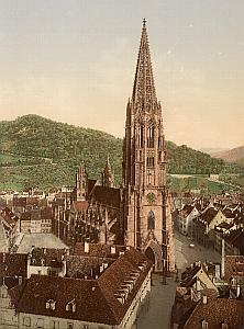 Germany Freiburg Das Munster Church Old Photo 1905