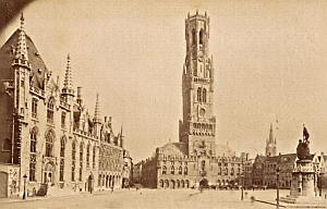 Belgium Bruges Center City Old Neurdein Photo 1885