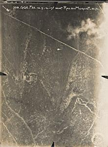 Verdun Muguet Trench WWI Military Aerial Photo 1916