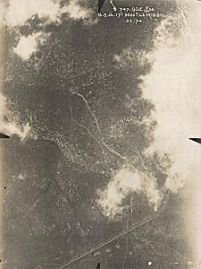 Verdun Ravin de Trissol WWI Military Aerial Photo 1916