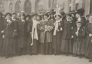 Paris Sainte Catherine Day Wright Plane Hat Photo 1909