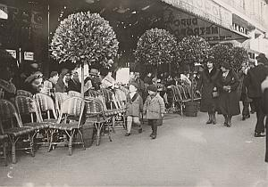 France Paris Cafe Le Metropole Terrace Old Photo 1932