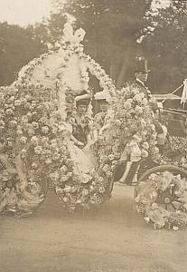 France Paris Flower Festival Mme Latour Old Photo 1910