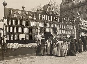 France Paris Foire au Jambons Sausage Seller Photo 1911