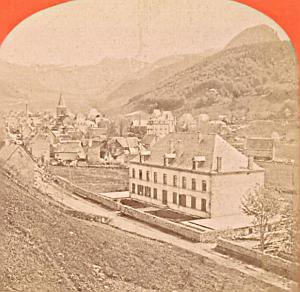 France Mont Dore General View Old Stereo Photo 1880
