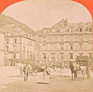 France Mont Dore Hotel Poste Bellon Stereo Photo 1880