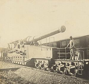WWI War Photo 1918 Saint Mihiel Canon Gun Train 380