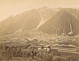 Alpes Mont Blanc Chamonix Valley Brevent Old Photo 1890