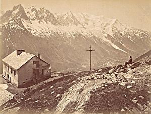 Alpes Mont Blanc Glacier Flegere Hotel Old Photo 1885