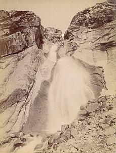 Alpes Mont Blanc Cascade Chamonix Old Photo 1890