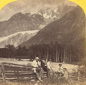 Alpes Mont Blanc Animated Montanvert Stereo Photo 1863