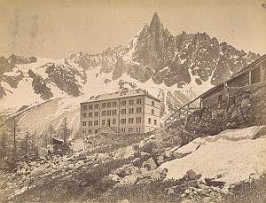 Alpes Mont Blanc Montanvert Hotel Glacier Old Photo 1890