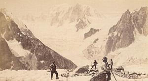 Alpes Mont Blanc Mer de Glace Animated Old Photo 1869