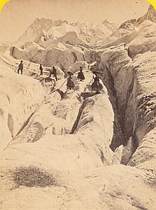 Alpes Mont Blanc Mer de Glace Animated CDV Photo 1869