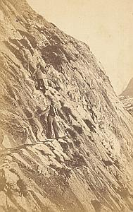 Alpes Mont Blanc Mauvais Pas Animated CDV Photo 1869