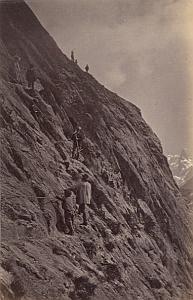 Alpes Mont Blanc Le Mauvais Pas Animated Old Photo 1880