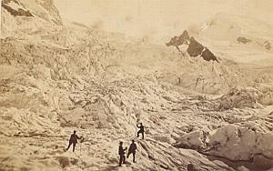 Alpes Mont Blanc Bossons Ice Animated CDV Photo 1869