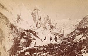 Alpes Mont Blanc Bossons Ice Animated Old Photo 1880