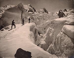 Alpes Mont Blanc Jonction Glacier Climbers Photo 1890