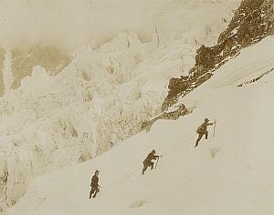 Alpes Mont Blanc Grands Mulets Climbers Photo 1890