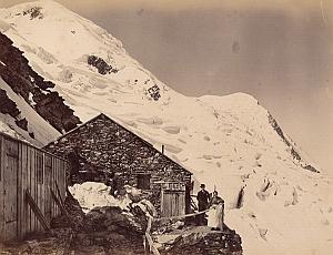 Alpes Mont Blanc Grands Mulets Refuge Old Photo 1880