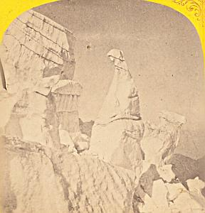 Alpes Mont Blanc Grands Mulets Old Stereo Photo 1869